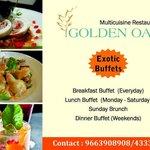 Exotic buffets at Golden oak
