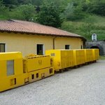Trenino con cui si entra in miniera :))