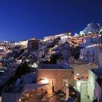 vue de la terrasse de nuit