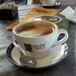 Nice caffe served each morning - nice surprise !!