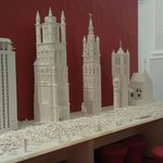 Lego models of the 4 towers of Ghent
