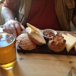 Man food - the excellent ploughmans with a pint of pull. Hubby heaven!
