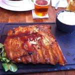 BBQ Pork Ribs and rice