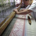Watch weavers at work as they've done since the 1800's.