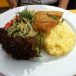 Delicious fish with mashed potatoes - wholesome meal