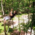 another zipline - one is 550' long!