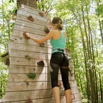 rockclimbing to get to another platform