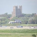 Orford Castle, seen from the Ness