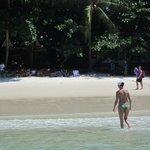 Strand vor dem Resort