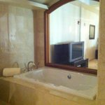 Beautiful Penthouse Jacuzzi Tub Looking into Bedroom