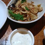 Artichokes- served thin sliced, battered & fried with a yogurt mint dip