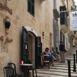 Leisurely lunch in Valetta, Malta.