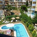 Вид из номера Leonidas Hotel