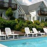 La splendide piscine chauffée.