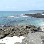 Darwin Bay looking towards the netrance of sunken caldera