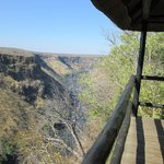 view from #4's balcony, the river runs below, zambia across the gorge