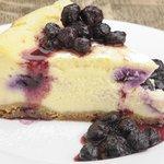 Baked blueberry cheesecake