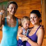 Agnieszka, Kristina and her little yogi Adelina