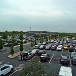 The parking lot of the Wetherby Services