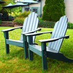 Adirondack chairs off of the dining patio