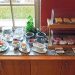 朝食のセレクションの一部