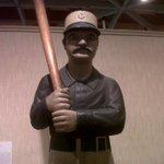 Baseball carving in Amercan primitive art exhibit