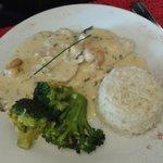 Dorade, saint jacques et riz