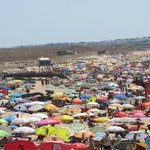 Main beach on a bank holiday-never saw it this busy again..see my secret tip