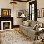 The Front Parlor has the original plaster walls, oak floors and cherry woodwork as installed in