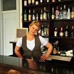 Micki, our friendly waitress/barmaid