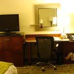 Desk area in the room