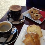 pause for coffee and a muffin at Deniz