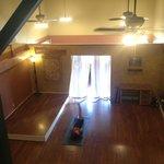 The yoga and dance studio at Malama
