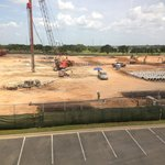 major construction adjacent to hotel