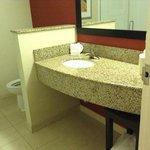 Bathroom - roomy and plenty of space (shower, no tub)