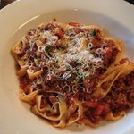 My dinner/Flat noodles with meat sauce $15/Yummy