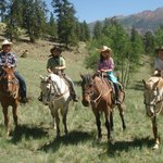 My Grandkids on their horses.