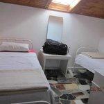 Two twin beds, top floor, with skylight - favorite room