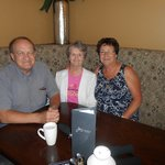 My cousin, his wife, and me on my 67th!
