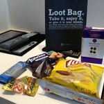 Loot bag in the room waiting for you when you enter the room. A really nice thoughtful gift!