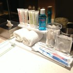 Great branded bathroom amenities, and the mouthwash is such a thoughtful extra!