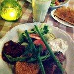Meal with ayran