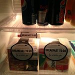 Breakfast packs in Minibar fridge