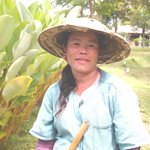 This lady is very hardworking too. I saw her planting the rice and gardening with the other staf