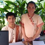Friendly and helpful Office Supervisor Ms Olam and Receptionist Mr Sithinman
