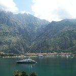 The view of Kotor from our patio (3-bedroom apt)