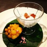 Mixture of traditional Thai Dessert in style