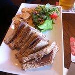 Huntly Hotel Bar warm beef sandwich