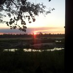sunset from the bird/game hide over Crocodile River