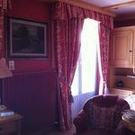 unser Zimmer im Chaletstil mit Balkon
